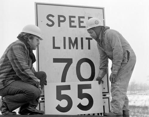 55 MPH sign